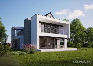 Weiß und Grau für ein cooles Einfamilienhaus