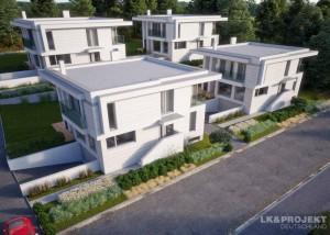 Unsere Architekten planen jetzt eine moderne Wohnsiedlung