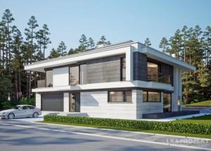 Modernes Einfamilienhaus, das Freude macht